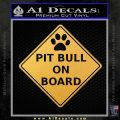 PIT BULL_on_Board Decal Sticker Gold Vinyl 120x120