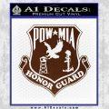 POW MIA Honor Guard Decal Sticker BROWN Vinyl 120x120