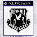 POW MIA Honor Guard Decal Sticker Black Vinyl 120x120