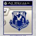 POW MIA Honor Guard Decal Sticker Blue Vinyl 120x120