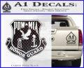 POW MIA Honor Guard Decal Sticker Carbon FIber Black Vinyl 120x97