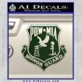 POW MIA Honor Guard Decal Sticker Dark Green Vinyl 120x120