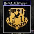 POW MIA Honor Guard Decal Sticker Gold Vinyl 120x120