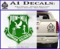 POW MIA Honor Guard Decal Sticker Green Vinyl Logo 120x97