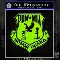 POW MIA Honor Guard Decal Sticker Lime Green Vinyl 120x120