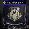POW MIA Honor Guard Decal Sticker Metallic Silver Emblem 120x120