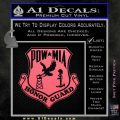 POW MIA Honor Guard Decal Sticker Pink Emblem 120x120
