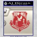 POW MIA Honor Guard Decal Sticker Red 120x120