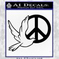 Peace Symbol Dove Decal Sticker Black Vinyl 120x120