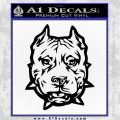 Pitbull Mean Face Decal Sticker Black Vinyl 120x120