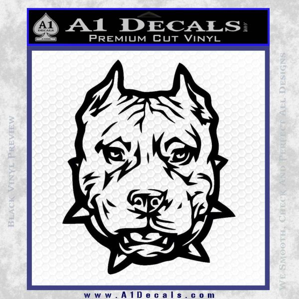 Pitbull Mean Face Decal Sticker A1 Decals