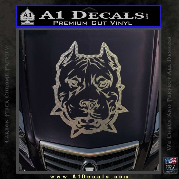 Pitbull Mean Face Decal Sticker 187 A1 Decals
