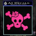 Plumeria Skull Crossbones Decal Sticker Pink Hot Vinyl 120x120