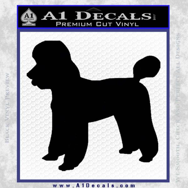 We Car: Poodle Dog Decal Stickerf » A1 Decals