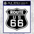 Route 66 Decal Sticker Black Vinyl 120x120