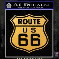 Route 66 Decal Sticker Gold Vinyl 120x120