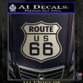Route 66 Decal Sticker Metallic Silver Emblem 120x120