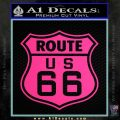 Route 66 Decal Sticker Pink Hot Vinyl 120x120