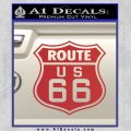 Route 66 Decal Sticker Red 120x120