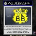 Route 66 Decal Sticker Yellow Laptop 120x120