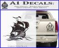 Sailing Boat Decal Sticker Carbon FIber Black Vinyl 120x97