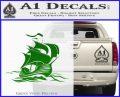 Sailing Boat Decal Sticker Green Vinyl Logo 120x97
