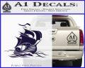 Sailing Boat Decal Sticker PurpleEmblem Logo 120x97