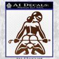 Sexy Girl 7 Decal Sticker BROWN Vinyl 120x120