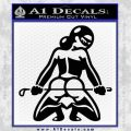 Sexy Girl 7 Decal Sticker Black Vinyl 120x120