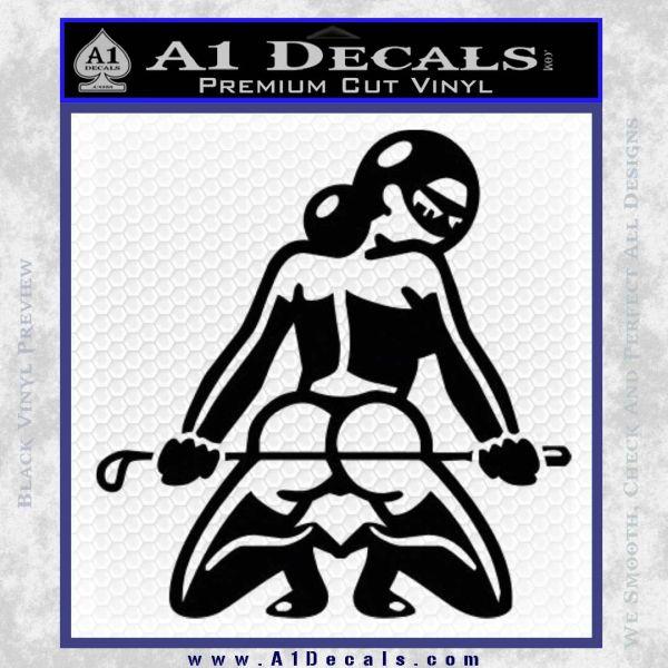 Sexy Girl 7 Decal Sticker Black Vinyl