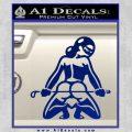 Sexy Girl 7 Decal Sticker Blue Vinyl 120x120