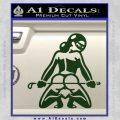 Sexy Girl 7 Decal Sticker Dark Green Vinyl 120x120