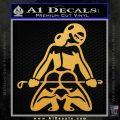 Sexy Girl 7 Decal Sticker Gold Vinyl 120x120