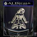 Sexy Girl 7 Decal Sticker Metallic Silver Emblem 120x120