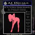 Sexy Girl Bending Decal Sticker Pink Emblem 120x120