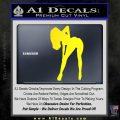 Sexy Girl Bending Decal Sticker Yellow Laptop 120x120