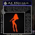 Sexy Girl Decal Sticker Standing Orange Emblem 120x120