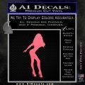 Sexy Girl Decal Sticker Standing Pink Emblem 120x120
