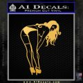 Sexy Girl Posing 3 Small Decal Sticker Gold Vinyl 120x120