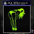 Sexy Girl Posing 3 Small Decal Sticker Lime Green Vinyl 120x120