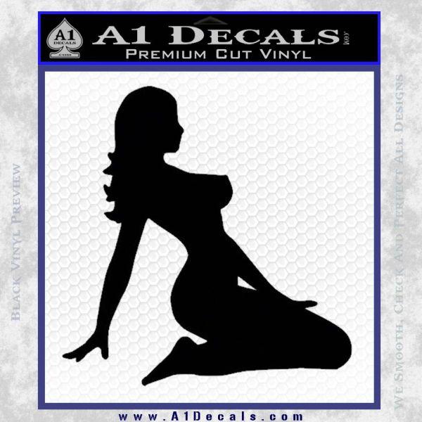 Sexy Lady A 2 Decal Sticker Black Vinyl
