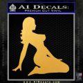 Sexy Lady A 2 Decal Sticker Gold Vinyl 120x120