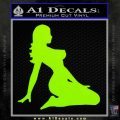 Sexy Lady A 2 Decal Sticker Lime Green Vinyl 120x120