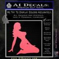 Sexy Lady A 2 Decal Sticker Pink Emblem 120x120