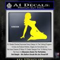 Sexy Lady A 2 Decal Sticker Yellow Laptop 120x120