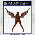 Sexy Lady Angle Decal Decal Sticker BROWN Vinyl 120x120