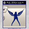 Sexy Lady Angle Decal Decal Sticker Blue Vinyl 120x120