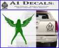 Sexy Lady Angle Decal Decal Sticker Green Vinyl Logo 120x97