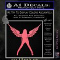 Sexy Lady Angle Decal Decal Sticker Pink Emblem 120x120