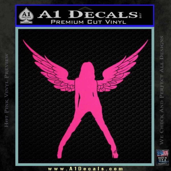 Sexy Lady Angle Decal Decal Sticker Pink Hot Vinyl